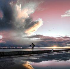 Respire by les photos du seb on 500px Le Havre, Clouds, Celestial, Sunset, Photos, Outdoor, The Sea, Landscapes, Sun