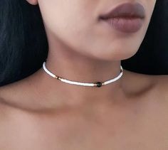 Fashion Necklace – Page 8 – clotheoo Diy Choker, Beaded Choker Necklace, Diy Necklace, Necklace Designs, Fashion Necklace, Fashion Jewelry, Bead Jewellery, Beaded Jewelry, Jewelry Necklaces