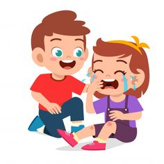 Happy cute kid boy comfort crying friend... | Premium Vector #Freepik #vector #people #love #woman #man Kid Character, Character Design, Preschool Classroom Rules, Art Drawings For Kids, Kids Study, Super Dad, Chor, Animal Logo, Cartoon Characters