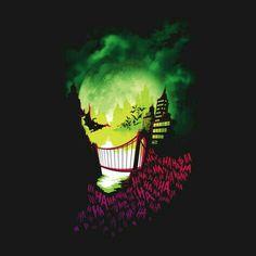Gotham City is going insane with the Joker 'City of Smiles' T-Shirt, and Batman… Nananana Batman, Joker T Shirt, Joker Art, Joker Pics, Im Batman, Gotham Batman, Batman Universe, Dc Universe, Tatoo Art