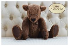 Our handsome 'Browny' hand-made bear Weighted Blanket, Handsome, Teddy Bear, Toys, Accessories, Gaming, Games, Toy