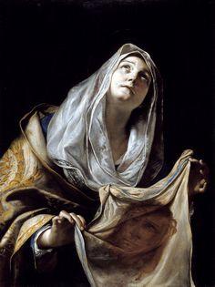 mattia preti, saint veronica with the veil, 1655