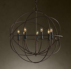 Despite the fact this is from Restoration Hardware, I really, really like it. A lot! I'm thinking in a dining room.