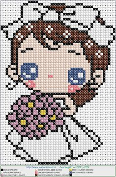 Novia EN PUNTO DE CRUZ, cross stitch pattern