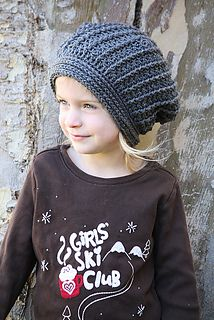 Grey Slouchy Hat by River Blossoms Crochet