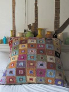 Free pattern - Madras Cushion by Kaffe Fassett