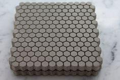 Concrete Coasters. Hexagon Coasters. Tiny Trivet