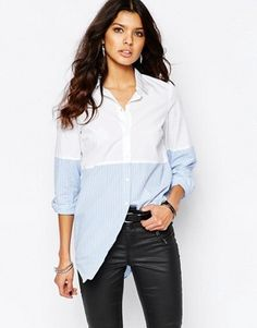 Noisy May Shirt With Stripe Detail