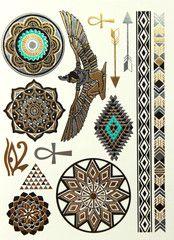 Mermaid Tattoo #22 • idr 100,000 or $10 • FREE shipping around Indonesia • worldwide shipping • LINE : reginagarde • shop online www.reginagarde.com Armband Tattoo, Sternum Tattoo, Flash Tattoos, Metallic Tattoo, Rave Accessories, Festival Gear, Piercing Tattoo, Temporary Tattoo, Tattoo Drawings