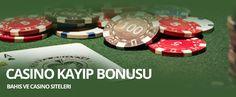 """Casino Kayıp Bonusu Veren Bahis Siteleri  Bahis siteleri tarafından sunulan bir diğer fırsat ise """" Kayıp Bonusu """" dur. Kayıp bonusu, yüklü miktarda oynanan bahislerde kullanıcının zararını biraz olsun indirmek için oynadığı bahis miktarına oranla %10 - %20'si oran geri ödeme yaparak müşteri memnuniyeti kazanmaktadır."""
