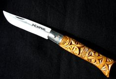 Opinel knife with traditional carving
