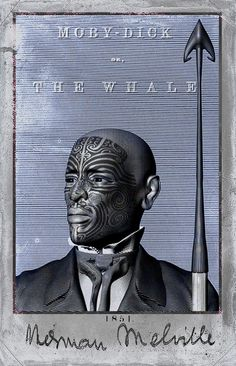 queequeg portrait by trent tate, via Behance Tattoo Graphic, Graphic Art, Rockwell Kent, Samurai, White Whale, Whale Art, Cool Books, Sea Monsters, Portrait Illustration