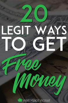 There is no shortage of legit ways to get free money. Start using some of these methods today to earn more money, pay off debt or enjoy some extra cash. Make Easy Money, Make Money From Home, Make Money Online, Online Earning, Legit Work From Home, Work From Home Jobs, Money Tips, Money Saving Tips, Free Money