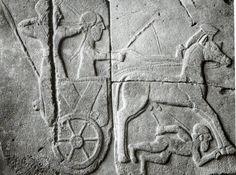 Hittite, combat car, Kargamış, İstanbul Archaeology Museum (Ekrem Akurgal) (Erdinç Bakla archive)