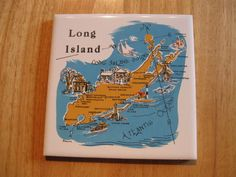 LONG ISLAND TILE TRIVET WALL HANGING BY SCREEN CRAFT PRODUCTS 6 INCH BY 6 INCH