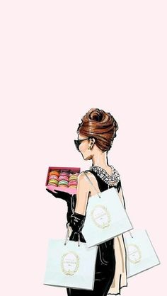 Trendy fashion wallpaper illustration Megan Hess ideas - fits your own style instead of hours of preparation Find stylish models. Audrey Hepburn Wallpaper, Audrey Hepburn Drawing, Audrey Hepburn Illustration, Megan Hess Illustration, Cool Wallpapers For Phones, Cute Wallpapers, Trendy Wallpaper, Aztec Wallpaper, Pink Wallpaper