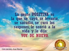 #FraseAnaMaría: Yo le sonrío a la vida y sigo para adelante. ¡Seamos positivos y creemos un mundo lleno de fe!