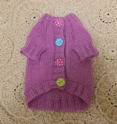 DIGITAL PATTERN: Knit Dog Clothes Pattern Knit Dog Sweater