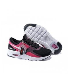 size 40 1917a e4c76 Nike Air Max Zero Qs Running Shoes Black Pink UK