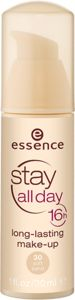 Stay All Day 16h Longlasting Makeup from Essence cosmetics R72,95 A longlasting foundation that ensures a smooth and silky complexion all day long.