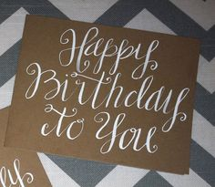 Sweet Sayings Handwritten Note Card Happy от allshewrotenotes