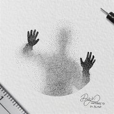 Dotted Drawings, Pencil Art Drawings, Cool Art Drawings, Art Drawings Sketches, Art Drawings Beautiful, Sketch Art, Art And Illustration, Illustration Design Graphique, Ink Illustrations