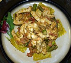 Gorgonzola Pesto Sauce Over Ravioli Chicken And Asparagus Recipe - Genius Kitchen