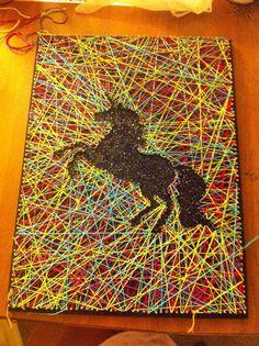 Glittery Unicorn String Art by SparkleYourHome on Etsy