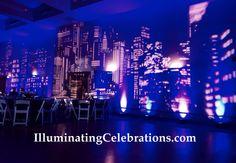 John F Kennedy High School Prom 2015 Witte Museum Uplighting Event Lighting City Scape IlluminatingCelebrations.com