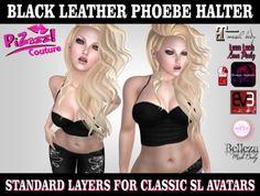 !*PzC*! Phoebe Leather Halter [BLACK] *Add ME