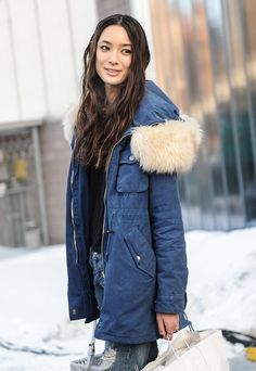 Pin for Later: Street Style Babes Who Will Inspire Your Snow-Day Beauty Look