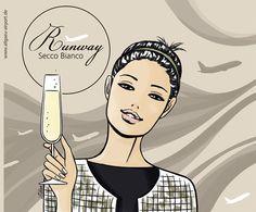 Runway Prosecco Illustration by Lilian Illustration