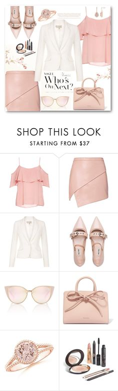 """""""nude top"""" by omniaasaad ❤ liked on Polyvore featuring BB Dakota, Michelle Mason, Miu Miu, Mansur Gavriel and Lazy Days"""