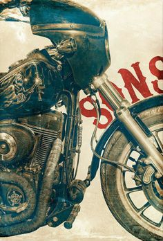 Sons of Anarchy painting for Mom and Scott