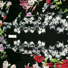 Ny collection Ny collection 1X black floral dress. New with tags NY Collection Dresses