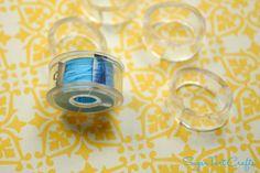 Bobbin Storage Solution - plastic tubing - mangueira plástica