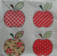 2 Apple Theme Napkins, Napkins with Apples, Decoupage Napkins, Mixed Media Paper, Lunch Napkins, Tea Party Napkins, Collage Napkins (APPLES) by GraceslacesPL on Etsy