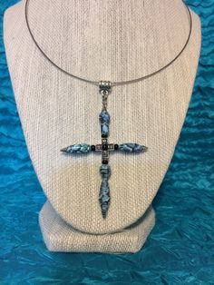 Large Cross Pendant Paper Bead Necklace by ABBOCREATIONS on Etsy https://www.etsy.com/listing/229766274/large-cross-pendant-paper-bead-necklace