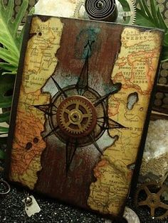 Time travel steampunk journal cover. ( this gallery has 30 different covers in this blog post)