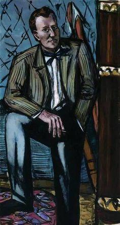 MAX BECKMANN  Portrait of Terry T. Rathbone (1948)