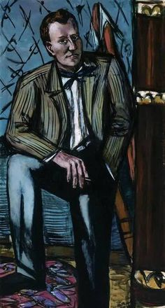 Max Beckmann:  Portrait of Terry T. Rathbone (1948)