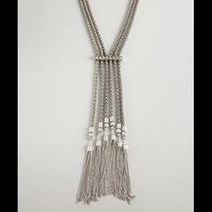 oxidized silver 'Dream Weaver' long tassel necklace by BCBGeneration