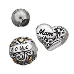 Individuality Beads Sterling Silver Two Tone Mom