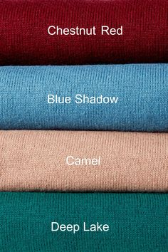 Colour Shades With Names, Different Types Of Colours, Color Shades, Mood Colors, Yarn Colors, Color Combinations For Clothes, Color Combos, Colored Burlap, Pantone