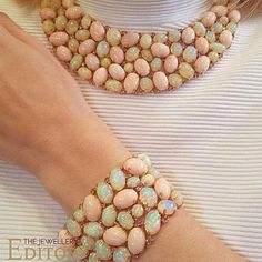 Sutra Opal necklace and bracelet