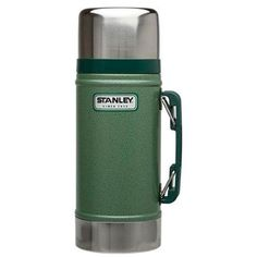 Perfect for camping or a long work day, the Stanley Classic Thermos Wide Mouth Bottle will keep your food hot or cold for up to 15 hours. The stainless steel construction of this thermos comes with a double wall vacuum insulation. Jar Storage, Food Storage, Lunch To Go, Lunch Box, Stanley Vacuum, Stanley Thermos, Food Canisters, Food System, Tents