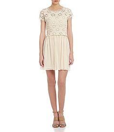 Jodi Kristopher Crochet Popover Dress #Dillards