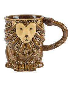 Look at this #zulilyfind! Brown Lion Stoneware Mug #zulilyfinds (boston warehouse)