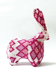 Beaded Rabbit | Pin Curated by @HandmadeCharlotte for @PeterRabbitMovie.