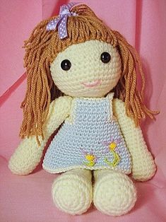 Amigurumi Doll Elara Crochet PDF Pattern by Janagurumi on Etsy